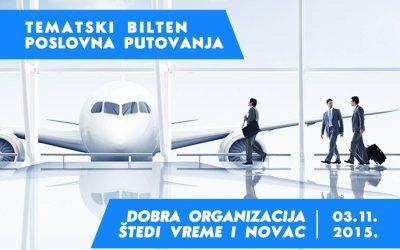 """Tematski bilten """"Poslovna putovanja"""" na eKapiji"""